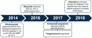 Key therapeutic developments in adult ALL